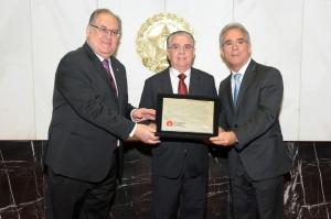 Roberto Andrade (deputado estadual PTN/MG), Nilson Reis (presidente do Instituto dos Advogados de Minas Gerais - IAMG), Duarte Bechir (deputado estadual PSD/MG)