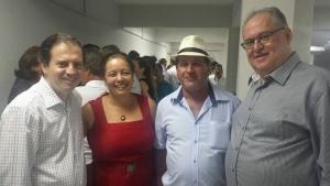 Rodrigo de Castro, Nilda Soares, Reginaldo Torres e Roberto Andrade estiveram presentes ao evento