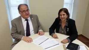 Deputado Roberto Andrade recebe vereadora Marília Rolla em seu gabinete