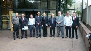Deputado Roberto Andrade acompanhou a comitiva das lideranças da Amapi na reunião no TRF1